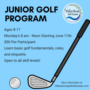 Junior Golf Sign-Up @ Willow Brook Golf Course
