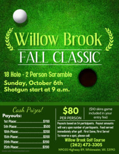 Willow Brook Fall Classic @ Willow Brook Golf Course