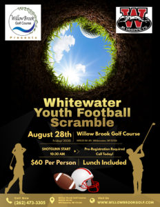 Whitewater Youth Football Scramble @ Willow Brook Golf Course