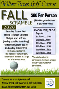Fall 2 Person Scramble @ Willow Brook Golf Course