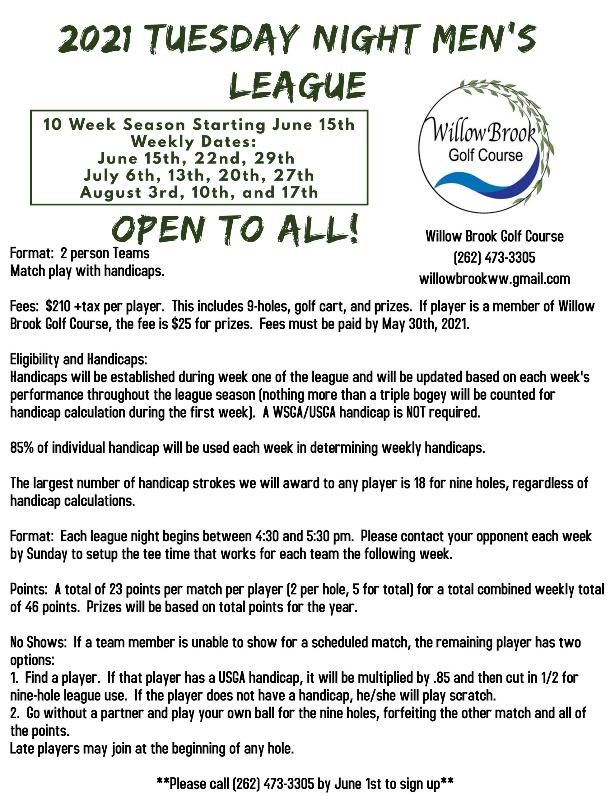 Copy of Golf Game Flyer Template (4)